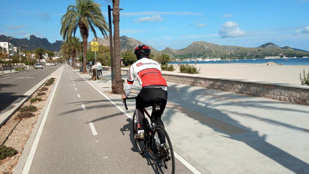 kolesarjenje ob obali