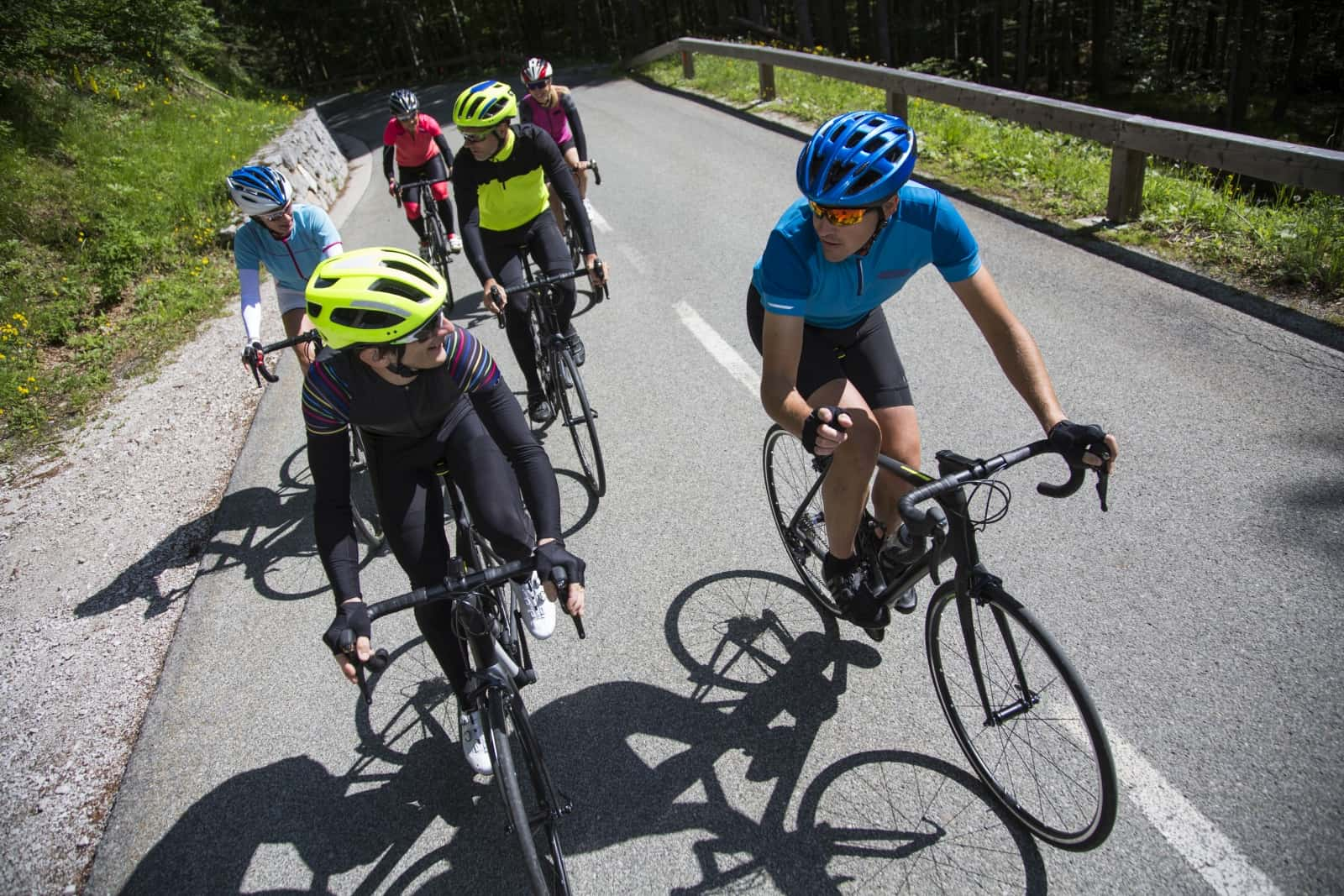 Group of cyclist riding in Slovenia. Road cycling marathon Franja biggest cycling event in Slovenia.