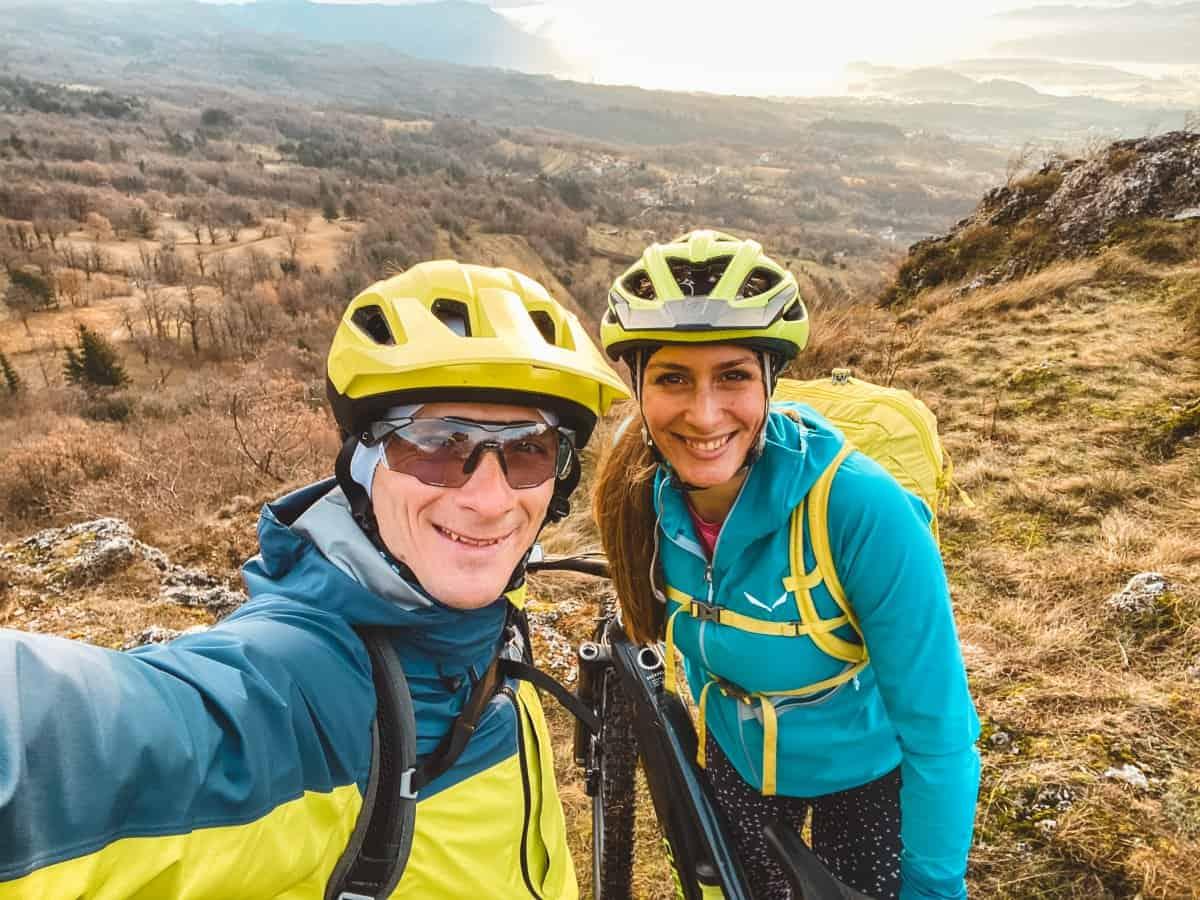 Aleksej Dolinsek - Alex from RockVelo and Sandra Suc testing new rental bikes