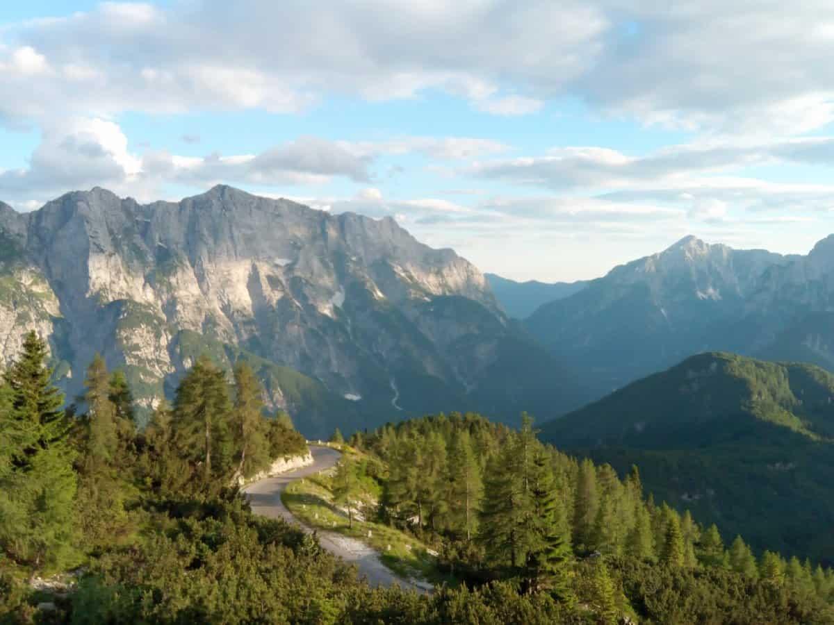 Mangart cycling route views. Photo by RockVelo bike tours Slovenia.