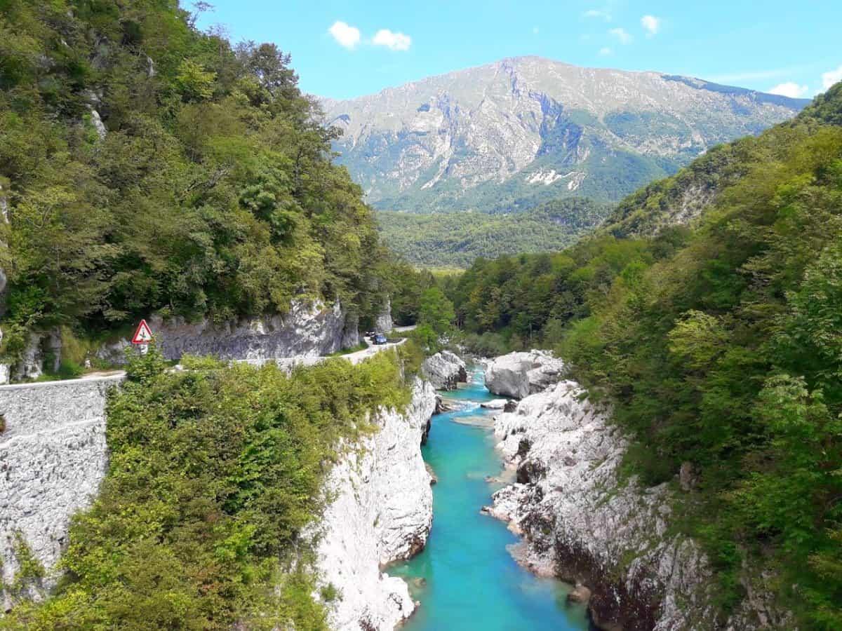 Alpine Slovenia river Soča. Road cycling tour by RockVelo