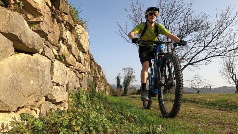 stone wall cycling ebike rockvelo slovenia izposoja rental