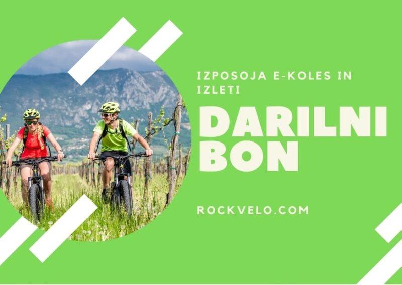 Darilni bon za izposojo električnega kolesa